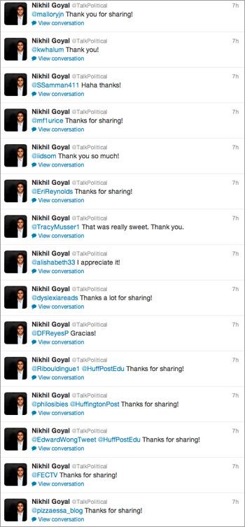 Nikhil Goyal's Twitter feed